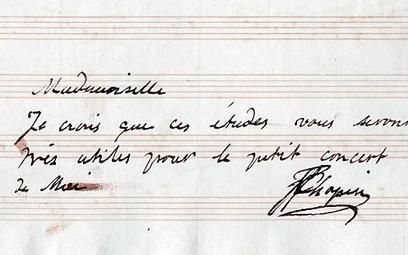 List Fryderyka Chopina będzie licytowany od 28 tys. zł