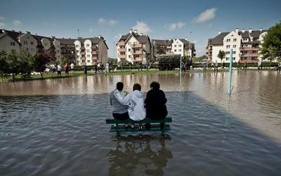 Osiedle Kozanów w czasie powodzi