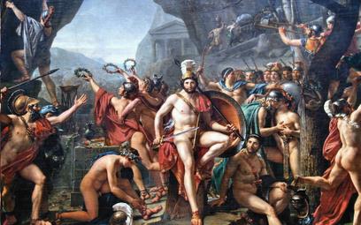 """Leonidas pod Termopilami"", obraz Jacques'a-LouisaDavida z1814 r."