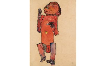 "Egon Schiele, ""Leżący noworodek"", 1910, Leopold Museum"