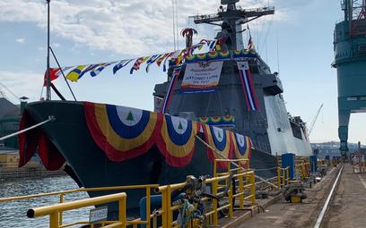 Fregata rakietowa Antonio Luna (F-151) podczas wodowania. Fot./Departament Obrony Filipin.