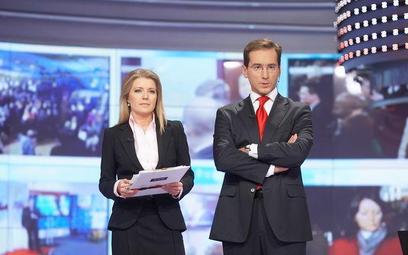 Dziennikarze TVP Małgorzata Wyszyńska i Piotr Kraśko