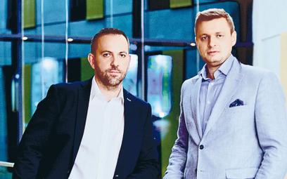 Paweł Fornalski (z lewej) i Sebastian Muliński  Dwaj wspólnicy działają razem w biznesie  od samego