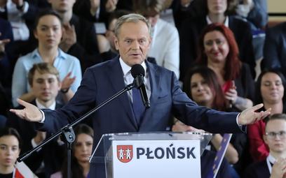 Donald Tusk podczas krajowej Konwencji Platformy Obywatelskiej w Płońsku