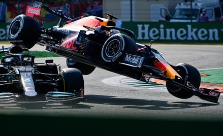 Kolizja Lewisa Hamiltona i Maxa Verstappena