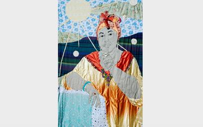 """Małgorzata Mirga-Tas, """"Esma Redźepova / Herstories"""", patchwork, 2021 - fragment projektu konkursoweg"""