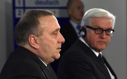 Grzegorz Schetyna i Frank-Walter Steinmeier
