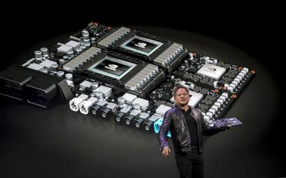 Jen-Hsun Huang, prezes Nvidia Corp. na Consumer Electronics Show w Las Vegas. Nvidia mocno ucierpiał