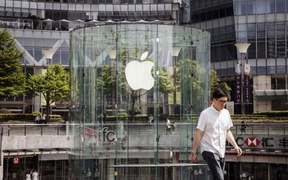 Wejście do sklepu Apple`a w Szanghaju.