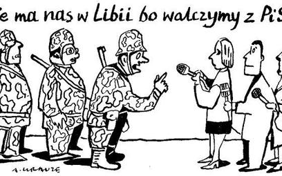 Komentarz rysunkowy. Nie ma nas w Libii