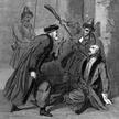 """Zabójstwo Dymitra I Samozwańca w Moskwie, 17 maja 1606 r. Rycina z """"Conspirations et executions poli"""