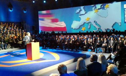 Donald Tusk na konwencji PO