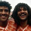 Ruud Gullit (z prawej) i Frank Rijkaard – dwaj rastafarianie z Amsterdamu. Razem prowadzili Holandię