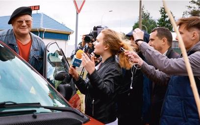Kaciaryna Andrejewa i Dzmitry Pauliuczenka, były oficer służb podejrzany o związek z porwaniami prze