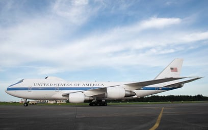Samolot dowodzenia strategicznego Boeing E-4B. Fot./USAF.