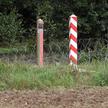 Drut kolczasty na granicy pomiędzy Polską i Białorusią