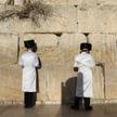 Żydzi pod Ścianą Płaczu w Jerozolimie