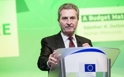Guenther Oettinger, unijny komisarz ds. budżetu