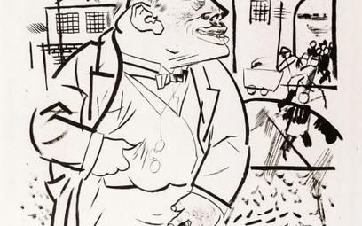 """George Grosz, """"Boss"""" (1922): nie sposób polubić kapitalizmu"""