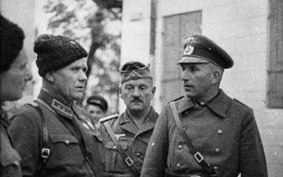 Żołnierze sowieccy i niemieccy w 1939 r.