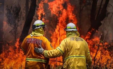 Australijscy strażacy walczą z ogniem w Nowej Południowej Walii