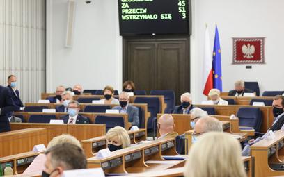 Lidia Staroń w głosowaniu jej kandydatury na RPO w Senacie, uzyskała 45 głosów