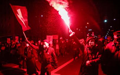 Protest po wyroku Trybunału Konstytucyjnego ws. aborcji