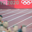 Michał Rozmys w jednym bucie w półfinałowym biegu na 1500 m