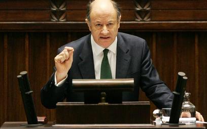 Jacek Rostocki podczas sejmowej debaty