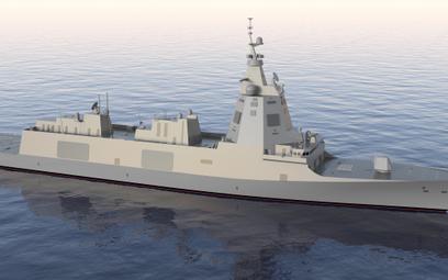 Wizja artystyczna fregaty typu F-110. Rys./Navantia.