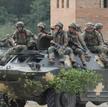 """Ukraińscy żołnierze w czasie ćwiczeń """"Rapid Trident-2021"""""""