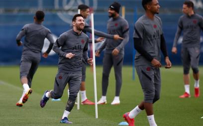 Piłkarze PSG na treningu