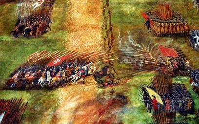 """Fragment obrazu """"Bitwa pod Kłuszynem"""" pędzla Szymona Boguszowicza, lwowskiego malarza ormiańskiego p"""