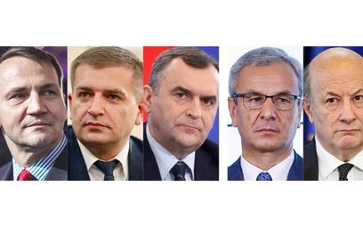 Zdymisjonowani: Radosław Sikorski, Bartosz Arłukowicz, Włodzimierz Karpiński, Andrzej Biernat i Jace