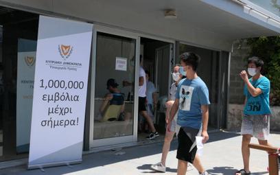 Punkt szczepień na COVID-19 na Cyprze