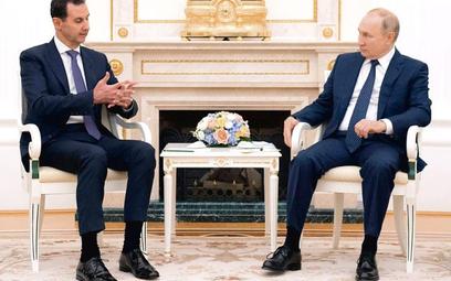 Baszar Asad dziękował Władimirowi Putinowi za sześć lat wojskowego wspierania swej władzy