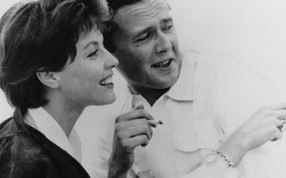 Marek Hłasko z żoną Sonją Ziemann, niemiecką aktorką, piosenkarką i tancerką. – Alkoholikiem był mój