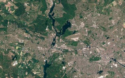 Zdjęcie satelitarne Berlina wykonane w ramach programu Copernicus