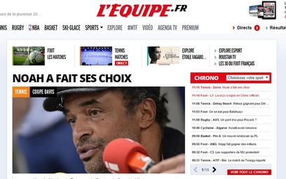 "Strajk w ""L'Equipe"""