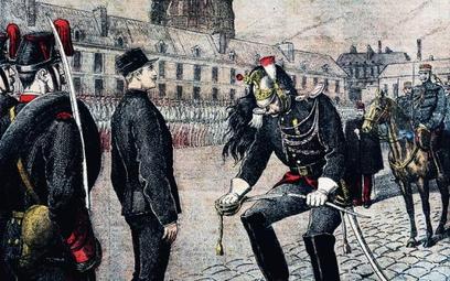 Pierwszy akt moralitetu: degradacja Alfreda Dreyfusa, październik 1894