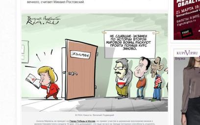 Kolejna rosyjska karykatura (screen ze strony ria.ru)