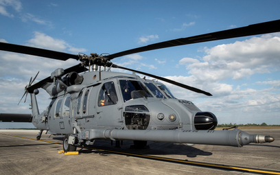 Jeden z dwóch śmigłowców CSAR HH-60W po przylocie do Eglin. Fot./USAF/Samuel King Jr.