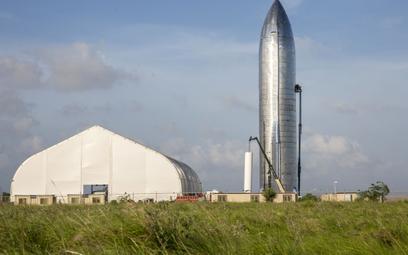 Prototyp statku Starship w Cameron County, w Teksasie,