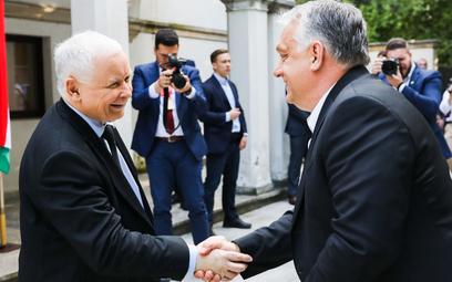 Jarosław Kaczyński spotkał się w Warszawie z Viktorem Orbanem