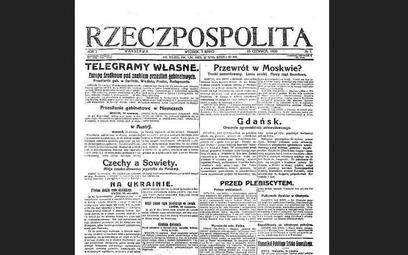 Prasa w 1920 roku: redaktorowi naczelnemu nie wolno opuszczać kraju