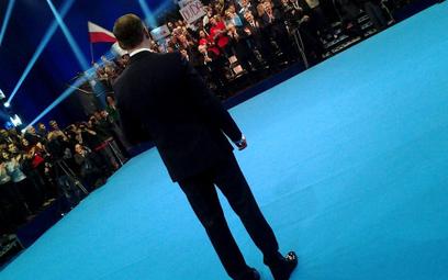Andrzej Duda podczas sobotniej prezentacji swojego programu