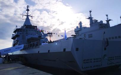 Uroczystość wcielenia do służby pełnomorskiego patrolowca ARA Bouchard typu Gowind. Fot./Marynarka W