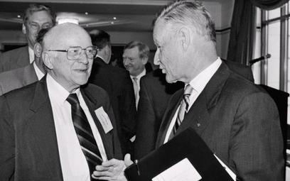 Jan Nowak Jezioranski i Zbigniew Brzeziński. 29czerwca 1996 r.