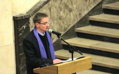 Prof. Antoni Ziemba podczas otwarcia Galerii Sztuki Średniowiecznej w Muzeum Narodowym, Warszaw