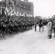 Naczelnik państwa Józef Piłsudski wtowarzystwie dowódcy Wojsk Wielkopolskich gen. Józefa Dowbora-Mu